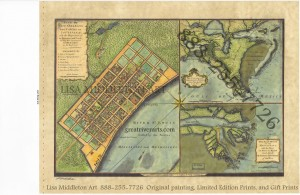 Watermarked FRENCH QUARTER La Tour 1720 painted by Lisa middleton