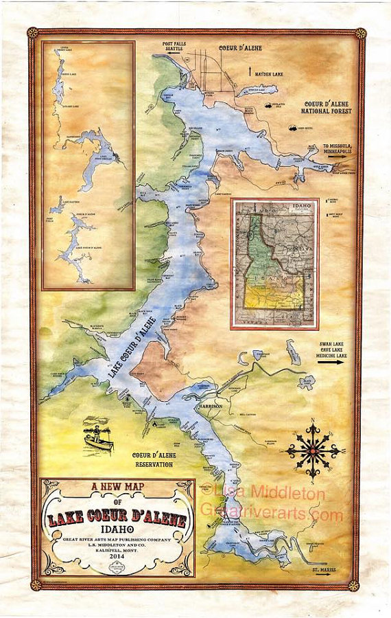 available at https://www.etsy.com/listing/209560030/a-new-map-of-lake-coeur-dalene?